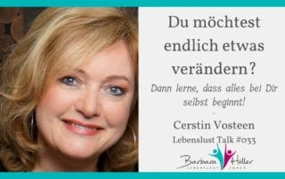 Lebenslust Talk Cerstin Vosteen